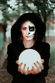 Witch skull face paint