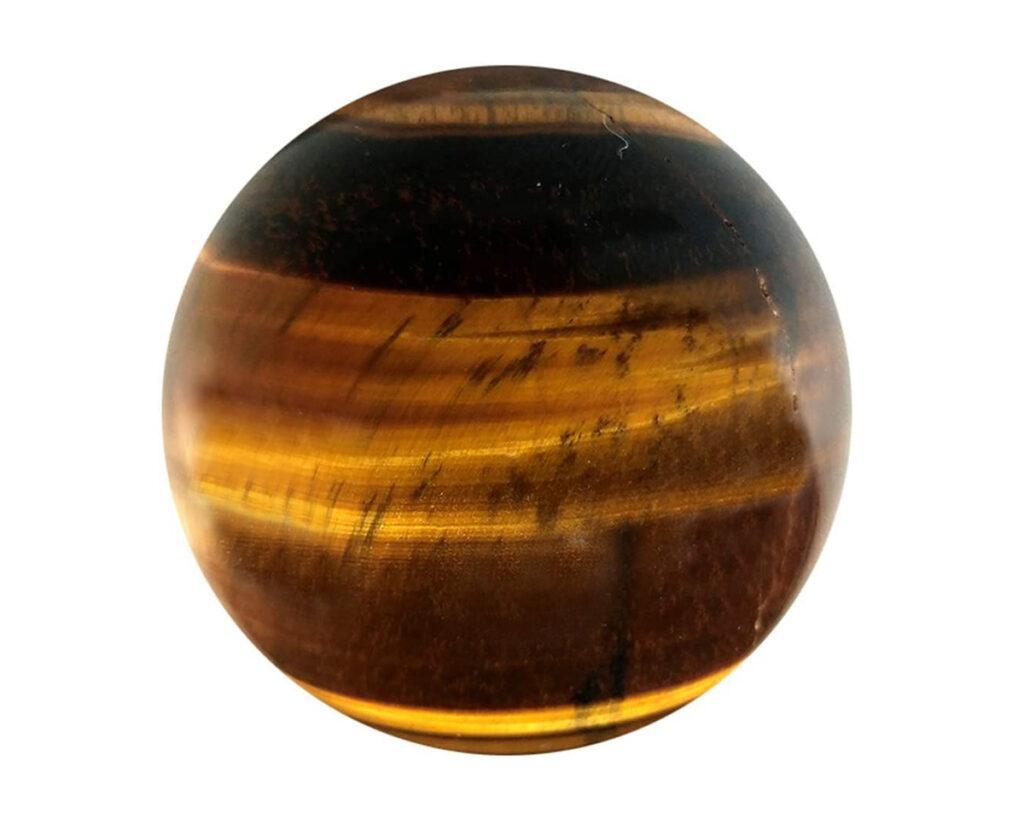 Tigers eye crystal ball