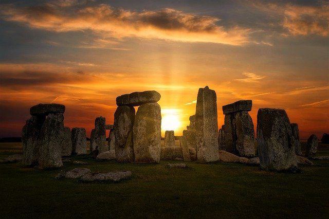 Stonehenge at sunrise or sunset